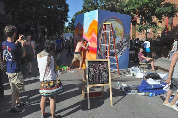 Here's your chance to display your art in the middle of Bedford Avenue this summer