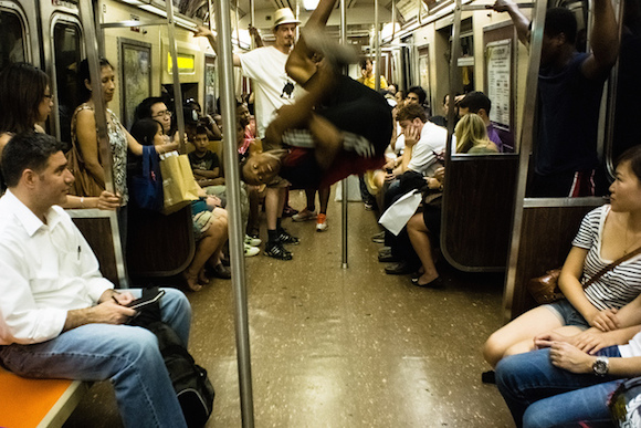So it's like your morning commute, but it smells better and you won't get kicked in the face. Via flickr user Dan Nguyen