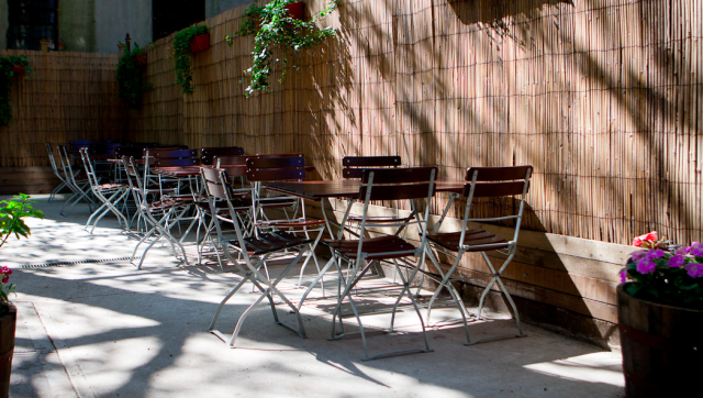 Drink like a king of summer at Crown Inn's back patio. Via Crowninnbrooklyn.com