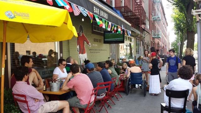 You can feel downright European on the sidewalk of Bar Bruno. Via Facebook.
