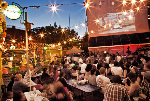 Don't miss the Sunday movie nights outdoors at Habana Outpost. Via Habana Outpost.