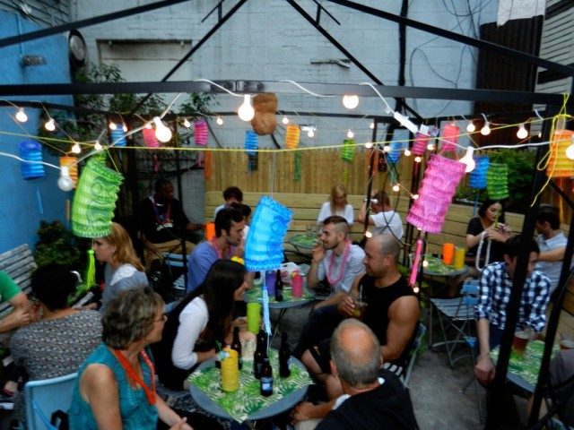 Hide out from the Bedford Avenue crowds in the back of Soft Spot. Via Softspotbar.com