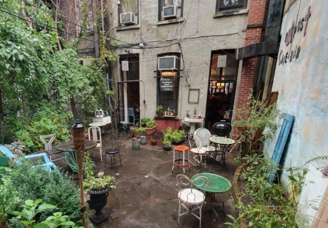 It's a veritable secret garden in the backyard of Outpost. Via Google Streetview.