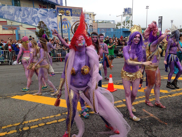 All the butts, boobs and body paint of the 2015 Mermaid Parade