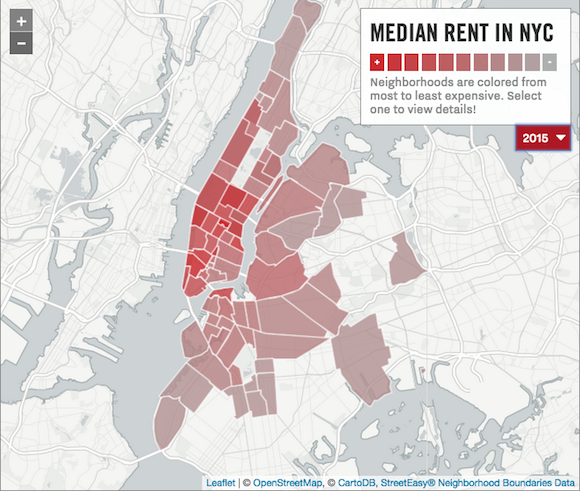 Fun new map shows the evolution of NYC\'s high rents