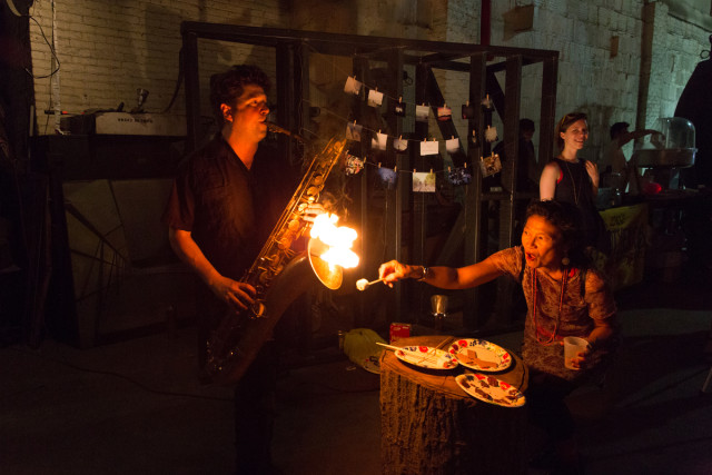Aerial antics, a flaming saxophone and so much more: Inside the 'Brooklyn Spaces' launch party