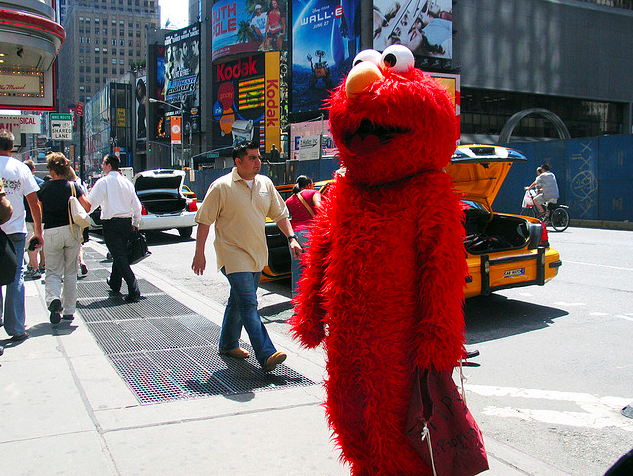 If this muppet asks you where the Cyclone is, don't tell him. Flickr image via Amy.