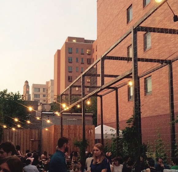 Evenings are swell in the backyard at Threes Brewing. via Instagram