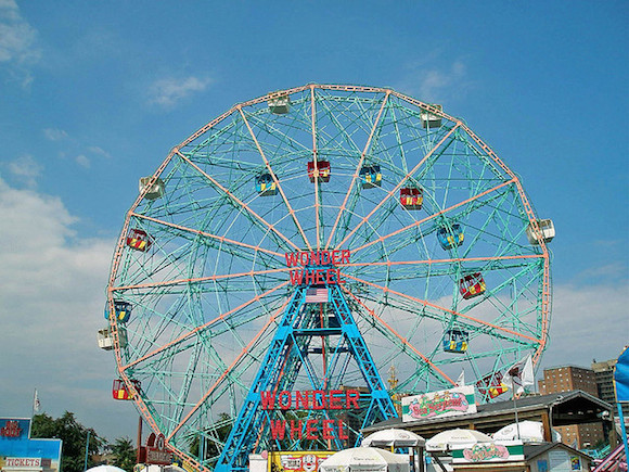 It's hard to find, but follow the shadow of the Wonder Wheel to taco bliss. via flickr user jndaycoulter