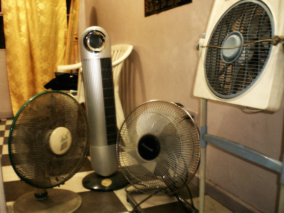Better yet, just use all the fans at once. via flickr user Gino Carteciano
