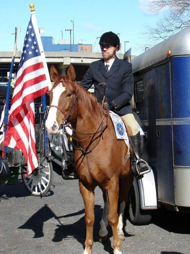 Blankinship riding honor guard in 2013. via Facebook