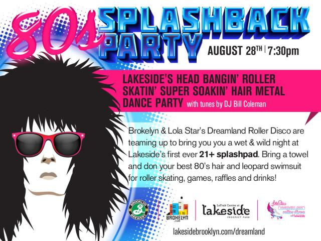The Brokelyn 80s splashback party is a week away, now featuring free Brooklyn Brewery beer!