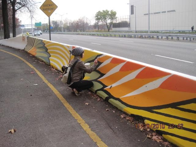 The city needs artists to pretty up our concrete barriers