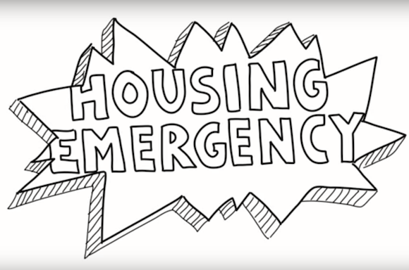 "De Blasio infographic says we're ""literally in a housing emergency"""