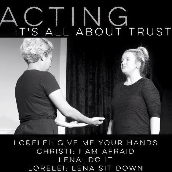 Serious acting exercises. via Facebook