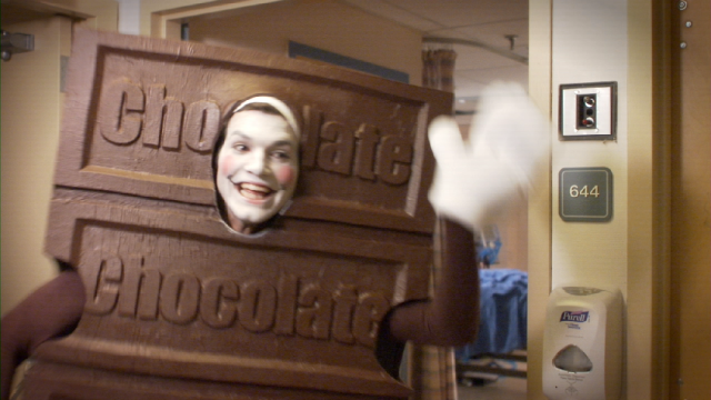 """More like """"laughs by chocolate."""""""