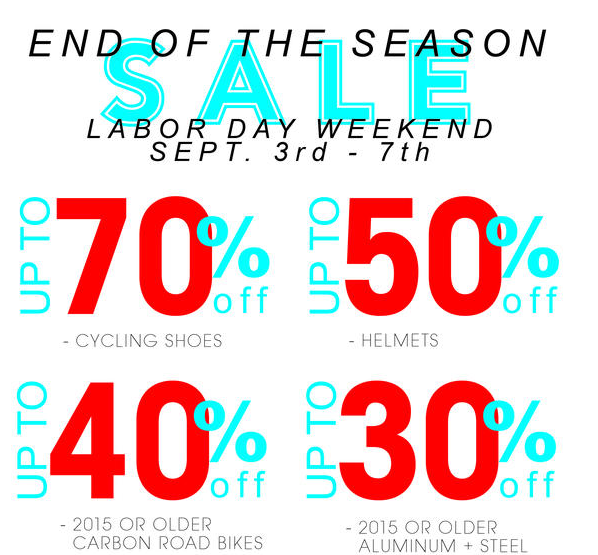 Deals and sales, sales and deals. via Ride Brooklyn