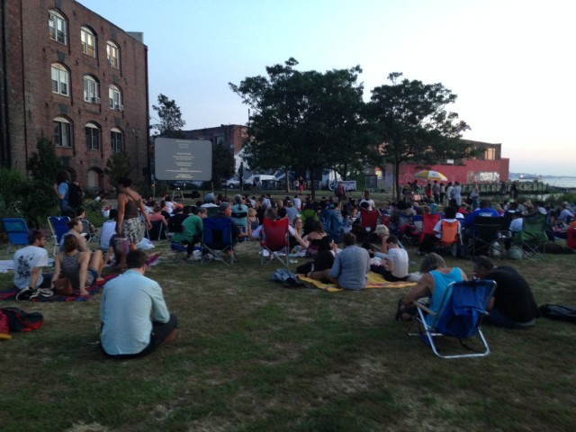 Outdoor movies are still happening in September in Red Hook, so take advantage. Photo by David Colon