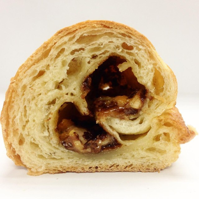Pain au Duane Reade is a croissant stuffed with Kit Kats, Snickers and Twix
