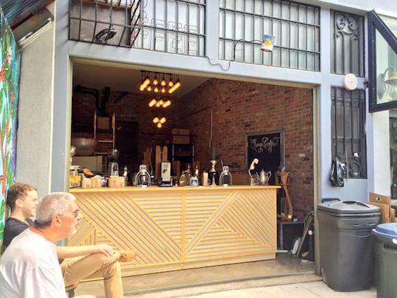 A rare glimpse of Kings Coffee during opening hours. via Twitter