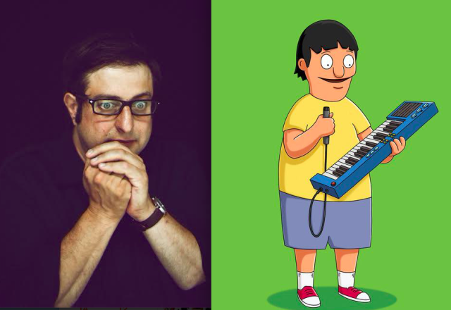 Eugene Mirman's brought Brooklyn comedy to the mainstream with Bob's Burgers, but his new album is a masterpiece of strange. Left: Shawn Brackbill; right: Fox.