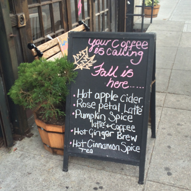 Crown Heights coffee shop alternatives to a Pumpkin Spice Latte