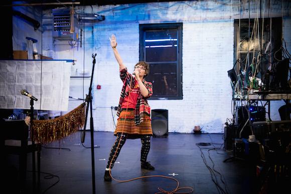 Cynthia sings out about blacking out. Photo by Dustin Drankowski