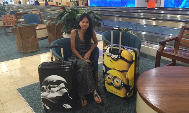 Look at her, she looks thrilled to be avoiding baggage fees! via Orion