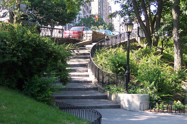 Take a walk down the stairs to Riverbank Park, just one way to enjoy Harlem. via Flickr user Barry Solow