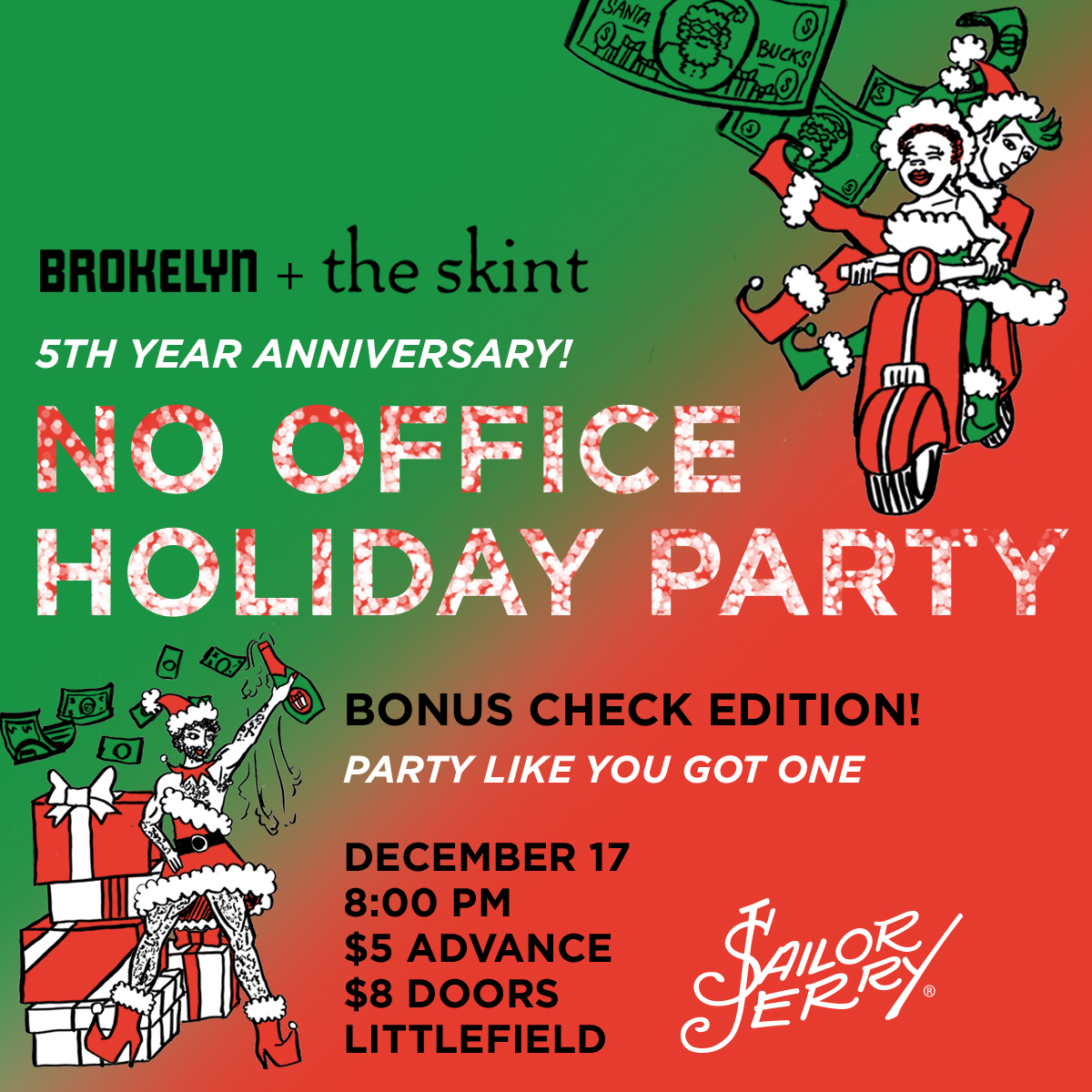 Save The Date The No Office Holiday Party Is On Thursday Brokelyn