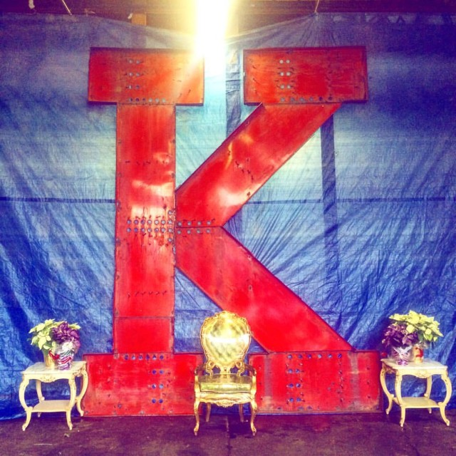 Get your picture taken with the Kentile Floors sign 'K' this Friday in Gowanus