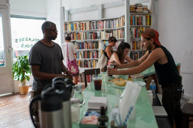 Stimulate your brain and your liver at Brooklyn Wine Book bar Molasses Books