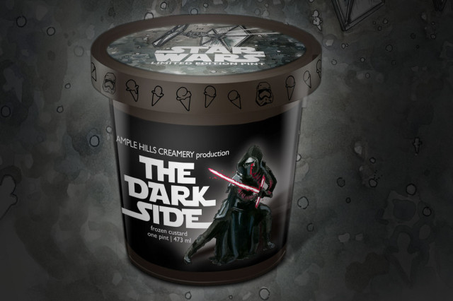 The ability to destroy a planet is nothing compared to the power of the Dark Side ('s ice cream flavor profile). via Ample Hills