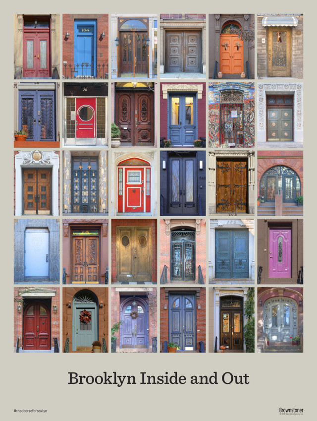 Hey check it out, you can win this poster full of cool Brooklyn doors