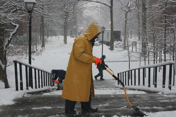 $now job: Get paid to help the city shovel all this damn snow all week