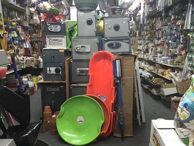 Find a sled at Flatbush Avenue's All-Star Locksmith & Hardware, and many other fine retailers. Photo by Tim Donnelly.