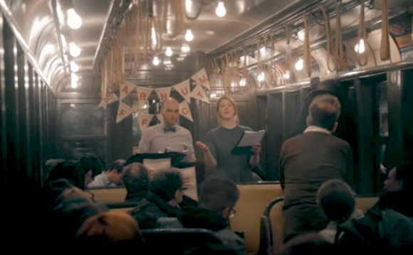 Stage your next play in a subway car, why don't you? via MTA
