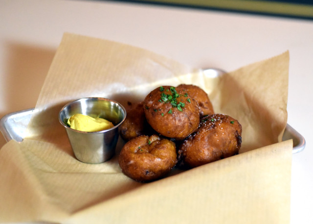 Sweet potato croquettes, on the menu at  Syndicated. Photo by Michael Tulipan.