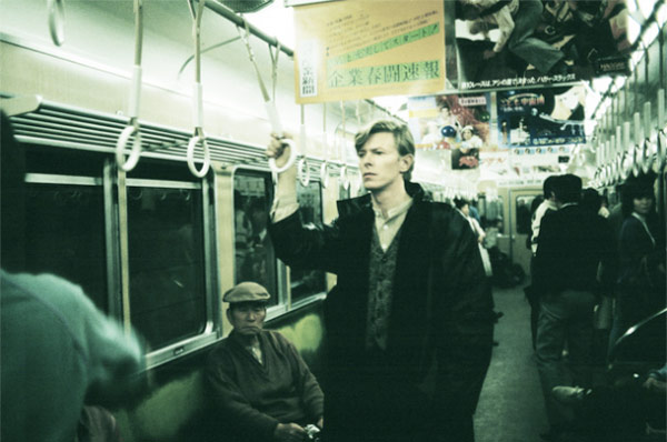 David Bowie rides the subway, where hopefully there weren't too many service ch-ch-ch-changes.