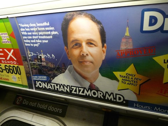 Dr. Zizmor may be retired, but his subway ads will live on forever