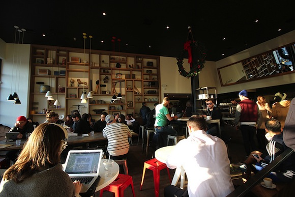 Toby's Estate in Williamsburg, one of many coffee shops plagued by laptop users. via Flickr user Shinya Suzuki