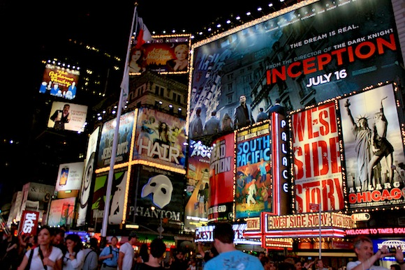 Broadway shows are benefiting from a century of tourism, so don't worry too much about them. via flickr user Susan