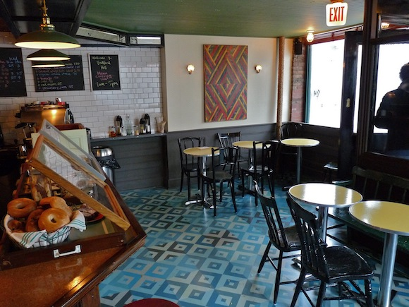 Stuart's tiny basement café is a place to stop by, not a place to camp out. via website