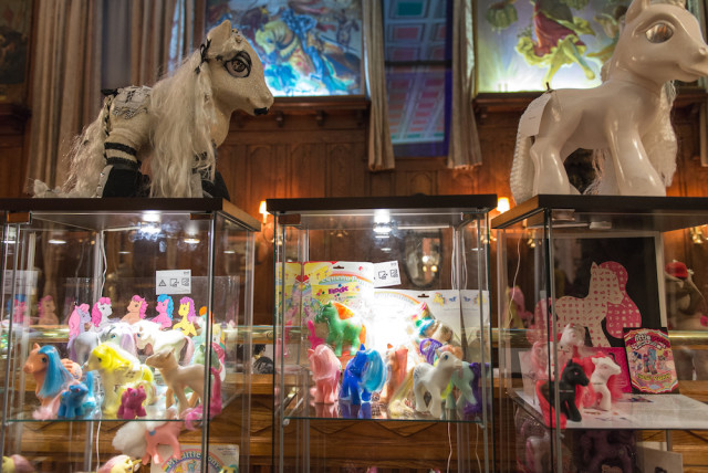 The My Little Pony museum in the hall's oak room. Photo by Jeni Magana.
