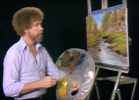 Bob Ross probably would have gotten so much more work done in Queens. via Youtube