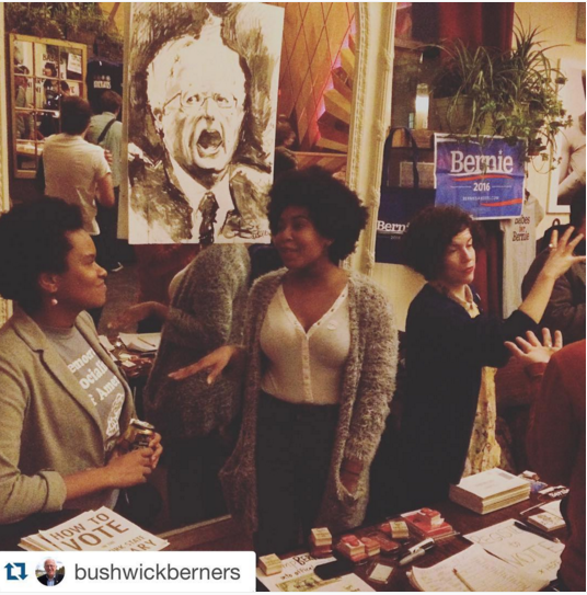 @BabesforBernie rocking the House of Yes benefit in early February. Via House of Yes Instagram