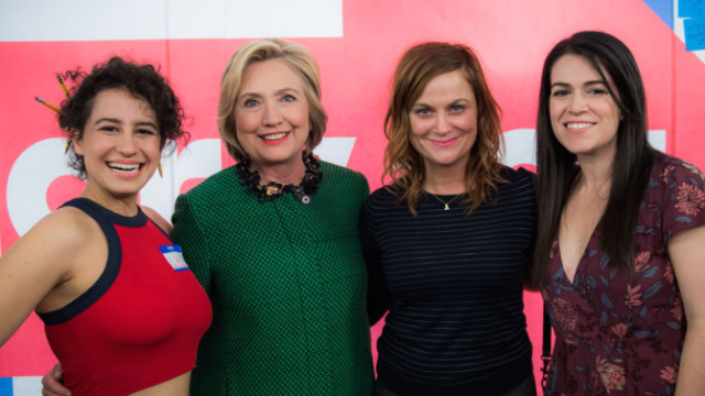 Team Clinton includes Broad City and Leslie Knope.
