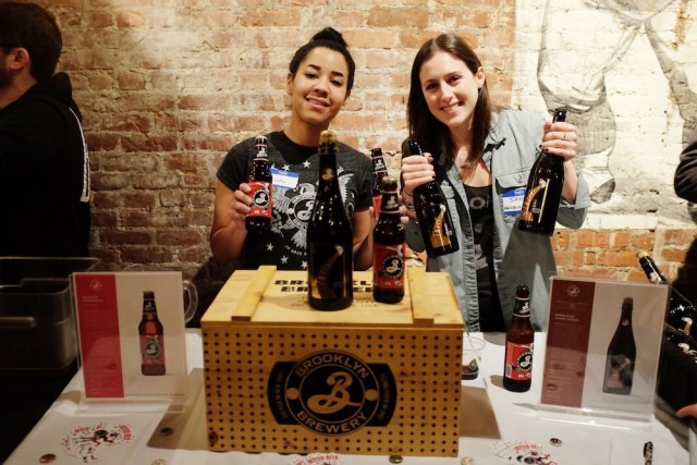 Kaitie and Sam of Brooklyn Brewery. Photo by Patrick Phillips.