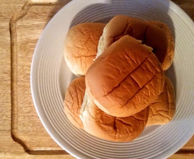A standard potato bun is all you need.
