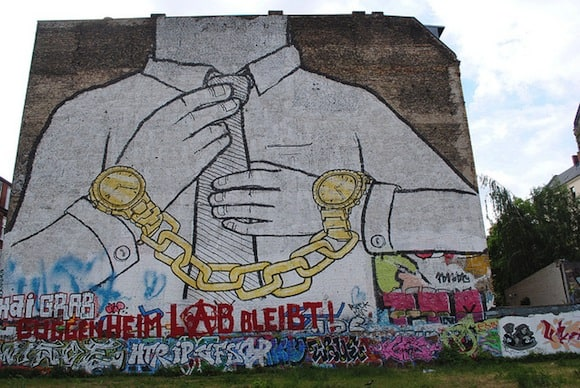 Cool, the blue-collar middle class is shackled there, too! Oh-Berlin / Flickr